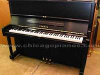 "48"" Yamaha professional upright in rare satin ebony"