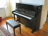 Ebony Hi polish finish with matching bench tuned also a