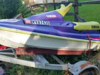 yamaha vxr wave runner with trailer , needs cleaned up