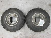 FOR SALE IS A SET OF FRONT WHEELS AND TIRES OFF OF A