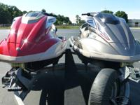 Two well maintained Yamaha FX SHO and HO Cruiser