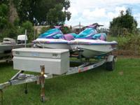 Yamaha WaveVenture Jet Skis, with trailer and tool box.