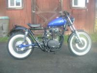 This bike is built from a 1979 XS650 Standard Lots of