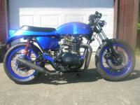 This Yamaha 650 cafe racer began life as a 1982 Yamaha