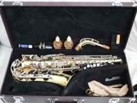 This saxaphone was only used for about 2 years. It is