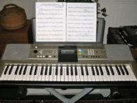 Yamaha YPT320 Keyboard, with ac adaptor and keyboard