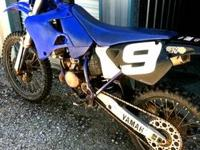 '00 Yamaha YZ 125 with less than 4 hours on the top and