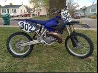 Fast Yamaha YZ 2-stroke. This bike has been pampered.