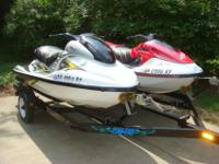 Yamaha 2005 GPR800 & & 1997 GP1200 Com-Fab TrailerThese