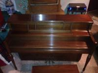 "1972 YAMAHA 43"" Console Piano Walnut finish  Made in"