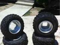 I am selling a set of tires that fit on a 2000 yamaha