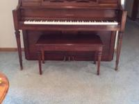Yamaha Upright Mahogany Piano  Mint condition 1980's