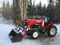 Yanmar 18hp diesel 4x4 tractor with Koyker loader ,cat