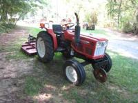 Yanmar 220 diesel tractor,with cutter. New battery,