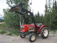 24 hp diesel farm tractor with new front loader and 5