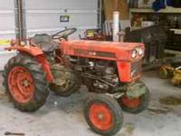 "yanmar 2 cylinder diesel tractor with 60"" three blade"
