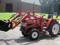 YANMAR MODEL F18 COMPACT TRACTOR, 4X4 WITH NEW QUICK