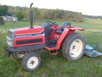 Yanmar FX20 tractor with 3pt Ford finish mower, 20 HP