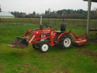 Yanmar 13 hp 4x4 Diesel Tractor. This tractor has it
