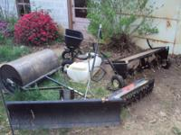 For sale is 2 Spike Rollers 1 Sprayer 1 Seeder 1 Snow
