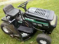 UP FOR SALE IS YARD MACHINE LAWN TRACTOR . THIS TRACTOR