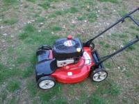 5 hp briggs and stratton engine, self propelled, runs