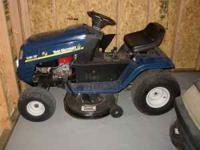 "Nice riding mower w/ 13 hp, 38"" cutting deck, 6-speed."