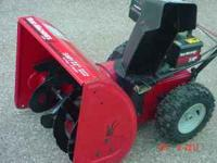 "Yard Machine snow blower 8 hp 24 "" cut with electric"