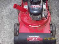 $ 150.00 OR B/O YARD MACHINE- 22'' VACUUM WIDTH. 3 in 1
