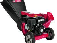 This chipper shredder has a 205 cc Briggs and Stratton