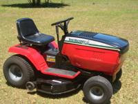 "Yard Machines Lawn Tractor 42"" cut 18.5 HP, Briggs &"