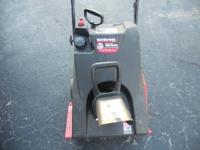 Up for sale is a Yard Machines Snow Thrower/Blower. It