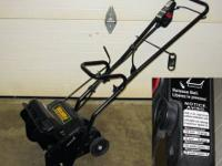 "Yard-Man electric snow blower/snow thrower 11"" wide."