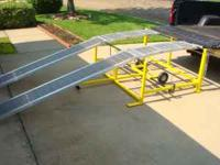DOLLY MOUNTED YARD RAMP. GREAT FOR DEER CAMPS, SMALL