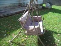 Yard swing for sale; I paid $129 for it; selling for