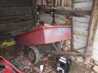 All Steel yard trailer, 49 L x 33W. Older model but