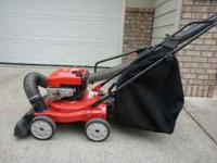 Troy-Bilt Chipper, shredder, vacuum. New ones are
