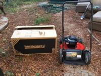 Like New Yard Machines Push Mower. Only used once as