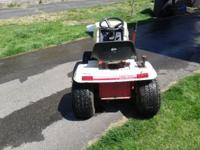 This is a 1992 Yardman 11 Horse Power Mower. It starts