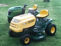 2 riding lawn mowers for sale $900 for both or this one