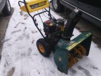 "Yardman snowblower 7hp, 24"". Runs great, starts right"