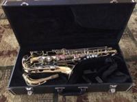 Selling a used Yamaha alto sax with case. In good