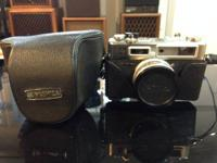 Yashica Electro 35 camera with case and strap  Good