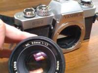 Yashica FR Camera with 55mm 1:1.7 A20907401 and 135mm