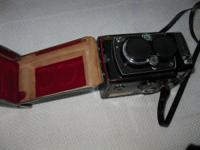 Rare vintage collectors Yashica 12 camera plus leather