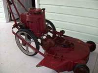 "Yazoo Pushmower, 20"", runs, needs a little carburetor"