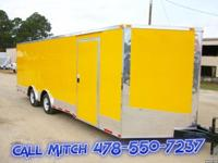 Yellow 8.5 x 24' Economy Line Trailer This is our