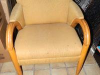 We are selling 2 used Yellow Armchairs, each for $50.