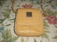 TIGANYELLO YELLOW LEATHER CROSS_BODY PURSE---EXCELLANT