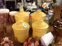 YELLOW VINTAGE CANISTER SET. $20. This collection